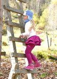 Sukňolegíny PEACOCK purpurové zateplené