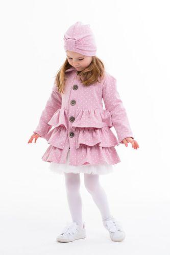 Kabát volánový™ ružový