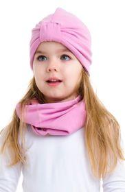 Turban dvojvrstvový ružový