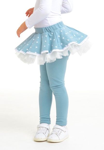 Sukňolegíny™ PRIMAVERA púdrové modré